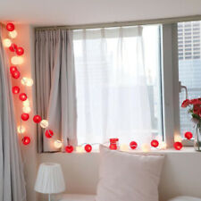 20 Cotton Ball Fairy Lamp LED String Lights Party Patio Wedding Christmas Decor
