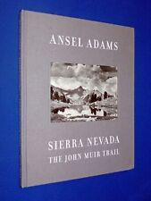 Ansel Adams Sierra Nevada The John Muir Trail 1st Thus Ed Official AA Hardcover