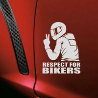 1Pc PET Respect for Bikers Sticker Funny Car Vinyl Decal Motorcycle Waterproof