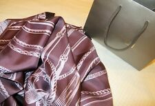 NEW Gucci Equestrian Print purpel SilkTwill  LARGE Neck Scarf GUCCI GIFT BAG