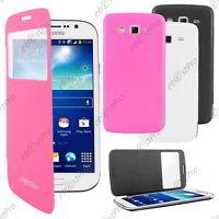 Accessoire Housse Coque Etui S-View Flip Cover Samsung Galaxy Grand 2 +Film
