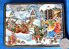 "Russian GICLEE Lacquer box ""Matchmakers are coming"" PALEKH style Wedding gift"