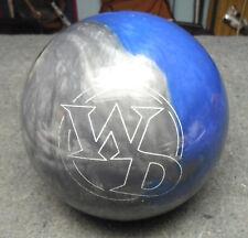 COLUMBIA 15LB C300 WD BLUE/SILVER/BLACK BOWLING BALL - EUC