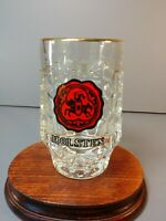 Vintage Holsten Dimpled German Beer Glasses Steins Mug Breweriana .2 L