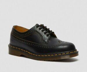 Dr Martens Made In England Vintage 3989 Black Leather Brogue Shoes - UK 9 EU 43