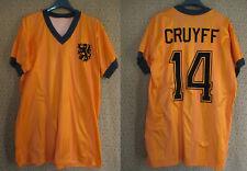 Maillot Hollande KNVB 70'S Netherlands Cruyff #14 Orange Vintage - M