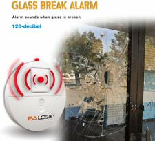 Glass/Window Break Alarm with Loud 120dB Alarm and Vibration Sensors 4 packs