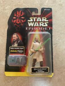 Star Wars Episode 1 TPM QUI-GON JINN Jedi Dual with Lightsaber NIB Action Figure