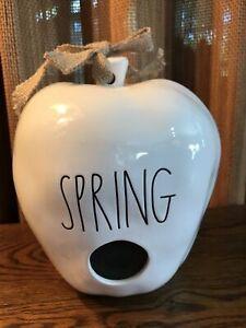 """Magenta RAE DUNN Artisan Collection """"SPRING""""  Apple Shape Birdhouse"""
