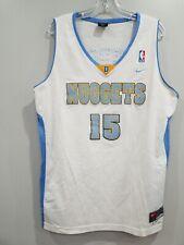 VTG Nike Denver Nuggets Carmelo Anthony 15 Rookie Swingman Jersey Mens L Sewn