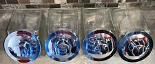 Set Of 4 Clear Glass Jar Storage Container with Lid