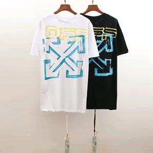 New Off-White Unisex Cotton Casual Men's Women's Shirt Short sleeve T-shirt