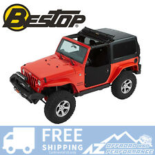 Bestop Front Soft Half Doors 07-18 Jeep Wrangler JK & Unlimited Black Diamond