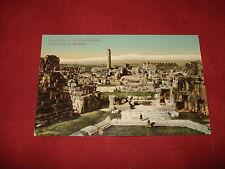 VINTAGE LEBANON: BAALBEK The Castle panorama colour tint