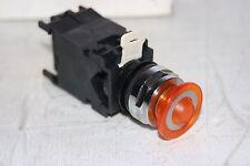 2 Positon Amber Lens Push Pull Switch 110VAC  EATON CUTLER HAMMER E22GH9X11