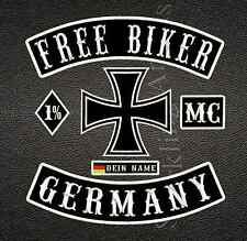 FREE BIKER GERMANY, MC, 1% 6-TEILIG Namensschild, MC, 1% 6-TEILIG