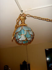 STAINED GLASS FIXTURE CELING LAMP PENDANT #1 HANDEL BRADLEY-HUBARD