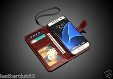Original MODERNO Marca Cuero Foto Funda Samsung Galaxy Modelos