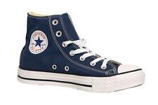 Converse All Star HI In Tela Chuck Taylor Uomo Donna Scarpe Blu Alte Scarpa
