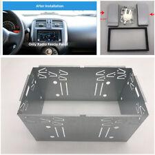Doppio Universale 2Din unità di testa stereo DVD Gabbia Di Montaggio Kit fascia metallo color argento