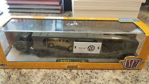 M2 AUTO-HAULERS 1957 Dodge COE & 1957 VW Beetle Deluxe USA Diecast 1/64 Scale