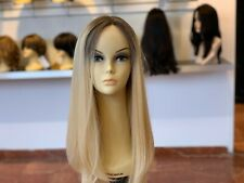 "YAFFA WIGS 100% EUROPEAN PROCESSED HUMAN HAIR BLOND WIG WITH LACE FRONT 25"" LONG"