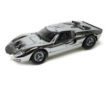 1966 Ford GT-40 MK II SHELBY COLLECTIBLES Diecast 1:18 Scale CHROME VERSION