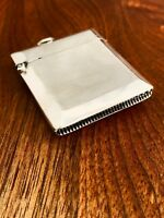 - SAMUEL M. LEVY ENGLISH STERLING SILVER MATCH SAFE RING TO LID 1925 NO MONOGRAM