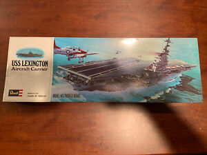 VINTAGE SEALED REVELL 1975 USS LEXINGTON (CVT-16) AIRCRAFT CARRIER COMPLETE NEW