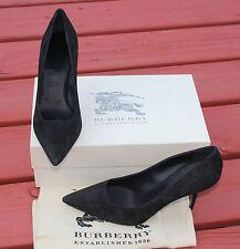 BURBERRY WATFORD BLACK SUEDE HEELS #9us $450