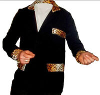 Teddy Boy Drapes 1950s Jacket Showaddywaddy Leopard print Fancy Dress