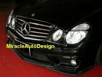 BLACK FRONT GRILLE SET FOR 2007-2009 MERCEDES BENZ (FACELIFT) W211 E-CLASS