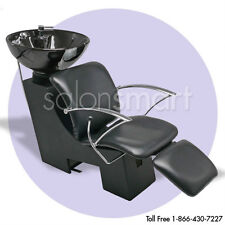 Shampoo Unit Backwash Bowl Chair Salon Spa Equipment - Tilting Bowl in Black