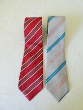 YVES SAINT LAURENT lot de 2 Cravates en Soie