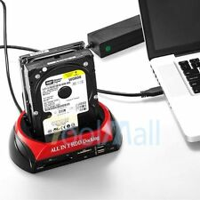 "HDD Docking Station 2.5""3.5"" IDE SATA Dual USB 2.0 Clone Hard Drive Card Reader"