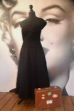 TED BAKER SASHEA DRESS BLACK SILK GOTH COCKTAIL BALLERINA BALL GOWN EVENING