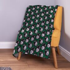 8 Ball Pool Design Soft Fleece Throw Blanket