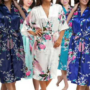 Medium Length Womens Robes - Sizes 2 to 18 - Floral Bride & Bridesmaid Robe Sets