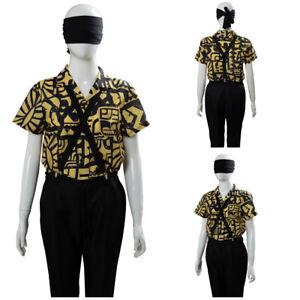 Stranger Things Season 3 Cosplay Eleven Shirt Costume 11 Yellow Shirt Suspenders