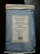 King Pillow cases 4 pack 600 thread count