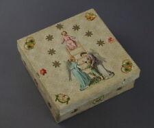 Weihnachten - Alte Box aus Karton mit Oblaten ~ 1920   (# 8361)