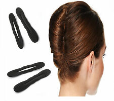 2 xBLack Magic Foam Sponge Hair Styling Donut Bun Maker Former French Twist Tool