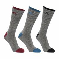 Trespass Radulf Mens Cotton Blended Cushioned Socks 3 Pair Pack