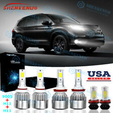 For Honda Pilot 2006-2018 6X Cob 6000K Led Headlight + Fog/Driving Lights Hi/Lo