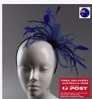 Women Girl Prom Big Feather Wedding Race Party Hair band Fascinator Headband