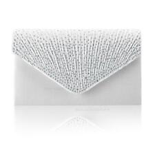 Women Stain Diamante Clutch Bag Evening Bridal Handbag Wedding Fashion Prom Bags