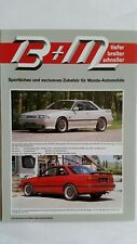 B + M / Mazda Automobile - Falt-Prospekt, 1989