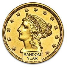 $2.50 Liberty Gold Quarter Eagle AU (Random Year) - SKU #4023