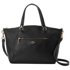 Coach Small Prairie Black Leather Satchel Crossbody Bag 79997