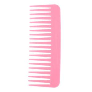 1Pc Salon Comb Hairdressing Shower Plastic Wide Tooth Detangler Hair Brush C CF